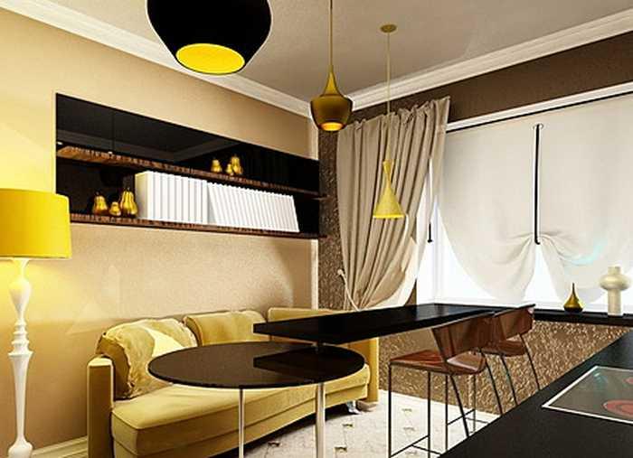 Контраст в помещении квартир и отелей